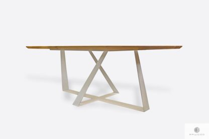 Oak table on metal legs to dining room BORNEO