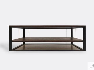 Wooden industrial coffee table of solid wood to living room IBSEN