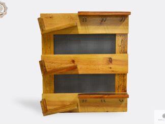 Drewniana półka na wino i kieliszki do kuchni jadalni OREST