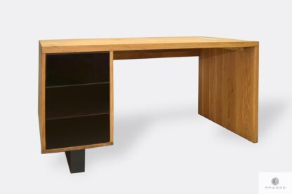 Wooden desk with drawers to office MOCCA