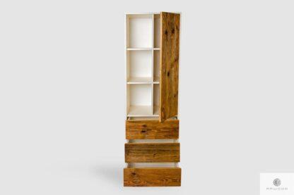 Drewniany regał z półkami szufladami na zamówienie do gabinetu ADEO
