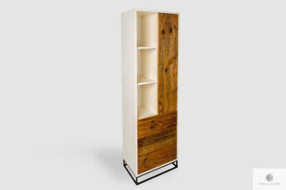 Drewniany regał z szufladami do salonu na wymiar ADEO