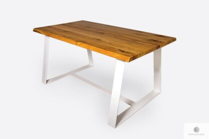 Wooden table in industrial style to living room MERGE