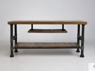 Industrial TV cabinet stand of solid wood to living room DENAR