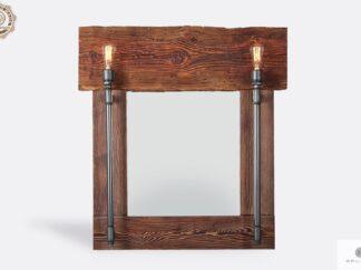 Industrial wall mirror of solid wood DENAR