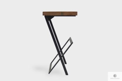 Industrial barstool with wooden seat to kitchen HUGON