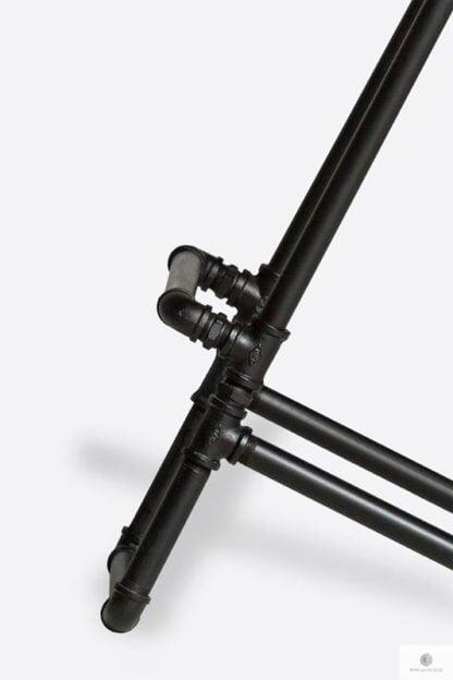 Industrial barstool with metal leg for kitchen DENAR