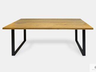 Industrial oak table with black metal legs to dining room WESTA