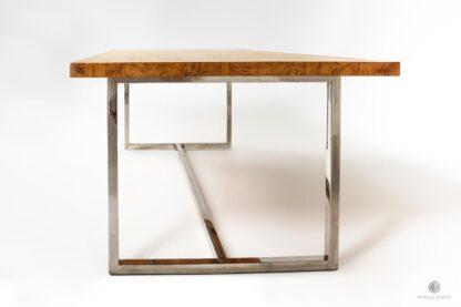 Industrialny stół nowoczesny dębowy do salonu PASAT
