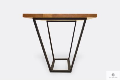 Industrial table of solid wood and steel to dining room LIBRO