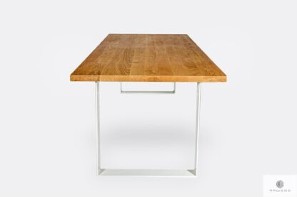 Industrial table with wooden tabletop BRITA