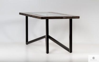 Industrialny stół z litego drewna na wymiar do jadalni INDRA