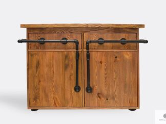 Industrial chest of drawers of solid wood and steel DENAR
