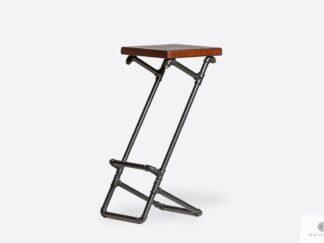 Modern wooden barstool on metal leg DENAR