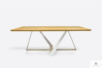 Modern oak table to dining room living room BORNEO