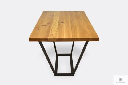 Modern oak table on black legs to living room LIBRO