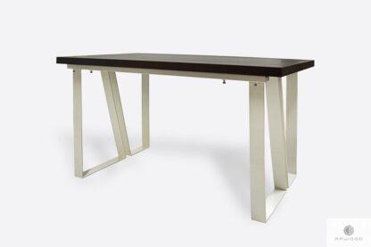 Nowoczesny stół dębowy na metalowych nogach do jadalni ELEGANT