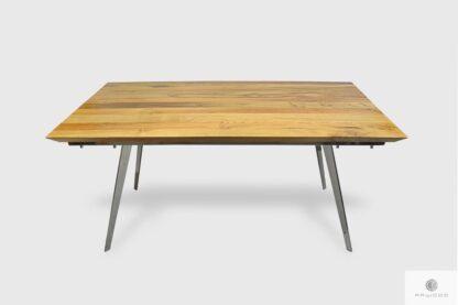 Modern oak table with metal legs to dining room VITA