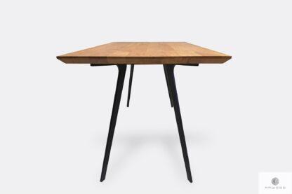 Modern oak table with swiss edges to living room VITA