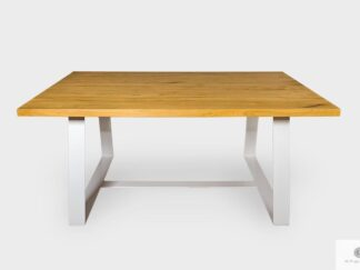 Modern table of solid oak wood to dining room MERE