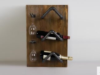 Wine shelf of solid wood to dining room DENAR