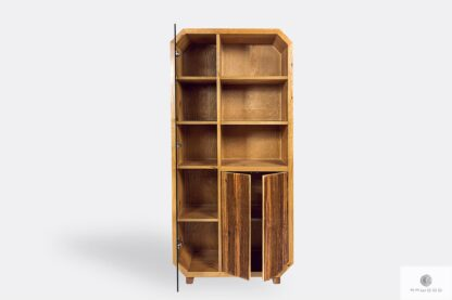 Bookcase of solid wood to living room OMNIS