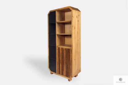 Wooden large bookcase display cabinet to living room OMNIS