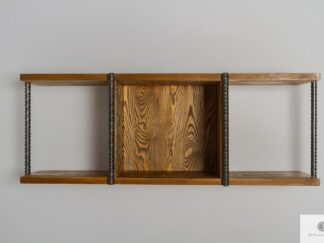 Rustic wall shelf of solid wood to living room HEGEL
