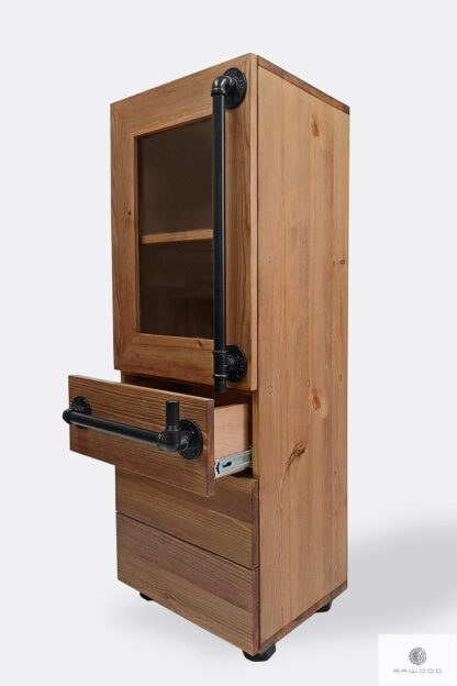 Industrial wooden bookcase to living room DENAR