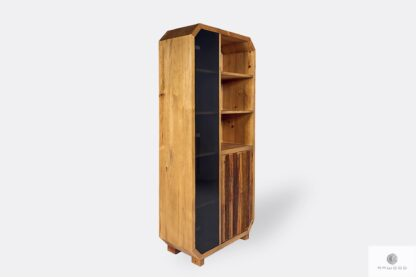 Bookcase of solid pine wood with shelves OMNIS