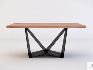 Stół dębowy na metalowej podstawie do jadalni DALIA
