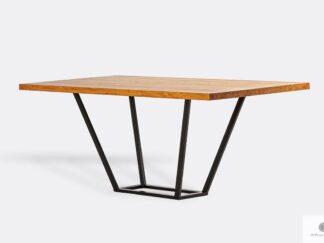 Stół dębowy na metalowej podstawie do jadalni LIBRO