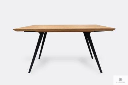 Oak table on metal legs VITA