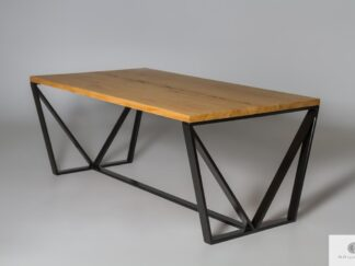 Modern oak table of solid wood to dining room VICTORIA