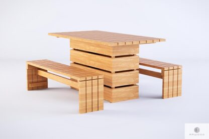 Stół ogrodowy drewniany drewno lite GARDEN