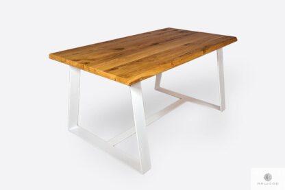 Table with oak tabletop on metal legs MERGE