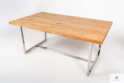 Stół z dębowym blatem industrialnym na wymiar do jadalni salonu PASAT