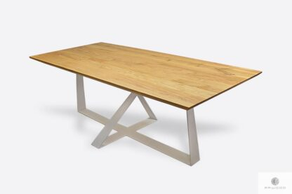 Table with oak tabletop and metal legs to living room BORNEO