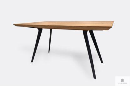 Table with oak tabletop on metal legs VITA