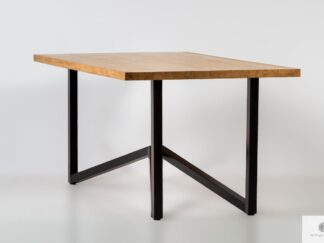 Table with oak tabletop on metal legs to dining room INDRA