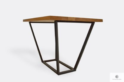 Table with wooden tabletop and black metal legs LIBRO