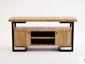 Oak TV cabinet to living room solid wood OLIMPIA