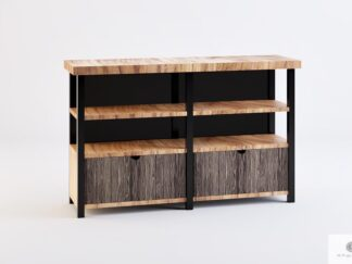 TV cabinet of solid wood with drawers shelves to living room COLIN