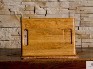 Deska do krojenia z pojemnikiem z drewna litego do kuchni