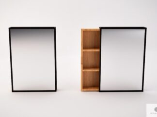 Modern wall mirror with shelves to hallway MIRA