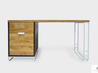 Nowoczesne biurko drewniane do gabinetu biura DENIS