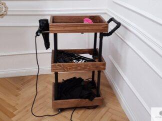 Industrial hairdresser cart on wheels of solid wood Furniture Manufacturer RaWood Premium Furniture