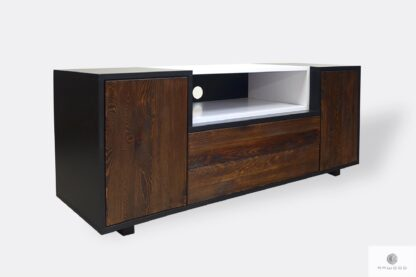 Modern TV cabinet of solid wood to living room BERGEN