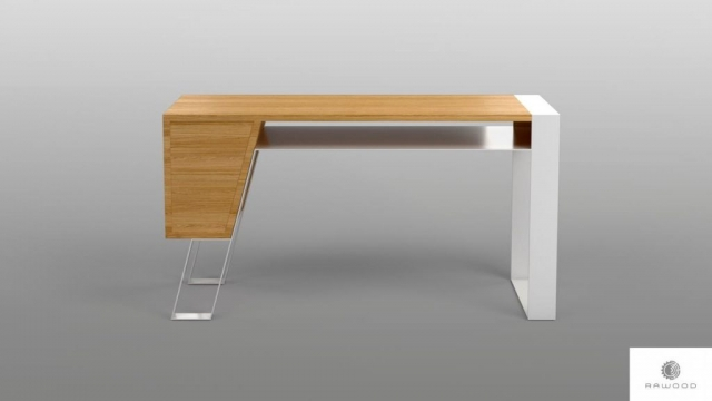 Desk of oak wood on metall legs to office BORA find us on https://www.facebook.com/RaWoodpl/