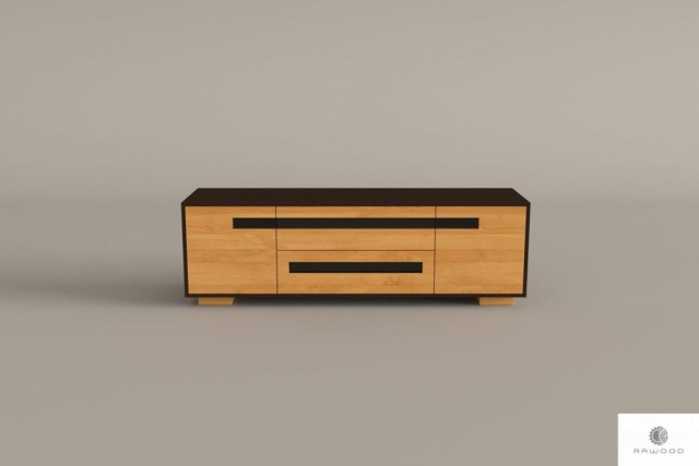 Oak TV cabinet of solid wood to living room LAGOS find us on https://www.facebook.com/RaWoodpl/